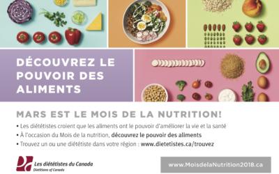 Quoi faire pour le Mois de la nutrition 2018?